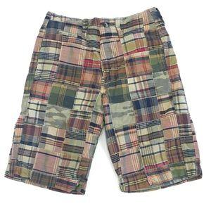 AMERICAN EAGLE Longer Length Madras Camo Shorts